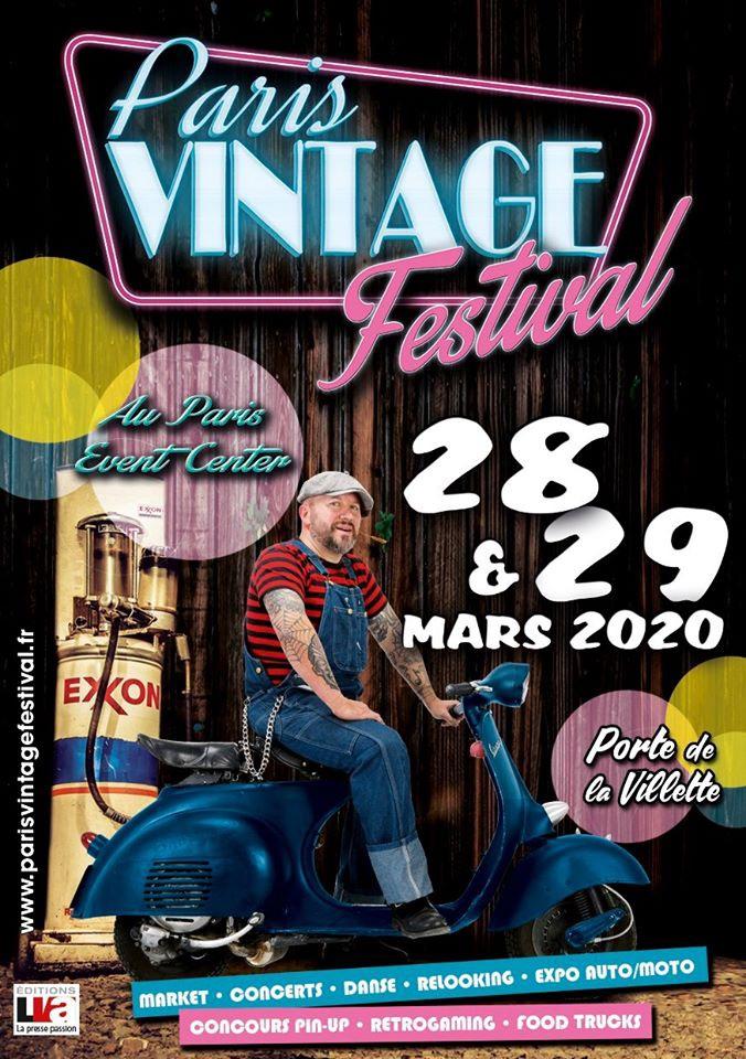 MANIFESTATION -  Paris Vintage Festival - 28 & 29 Mars 2020 - Porte de la Villette (Paris) 5e306a10