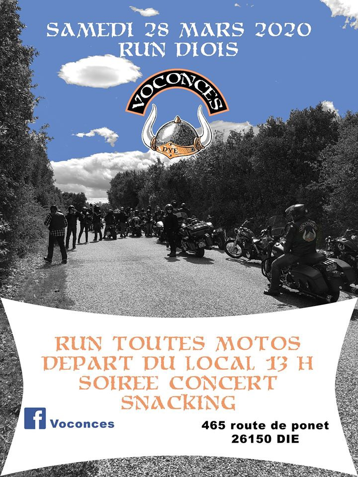 MANIFESTATION - Run Toutes Motos - Samedi 28 Mars 2020 - Die (26150)  5e307210