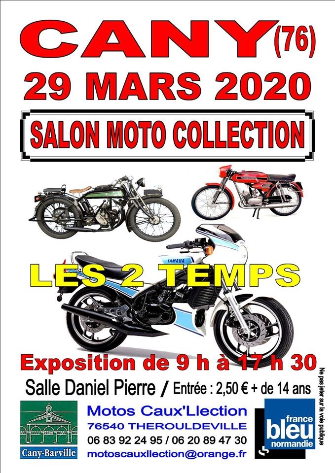 MANIFESTATION - Salon Moto Collection - 29 Mars 2020 - Cany (76) 5e307410