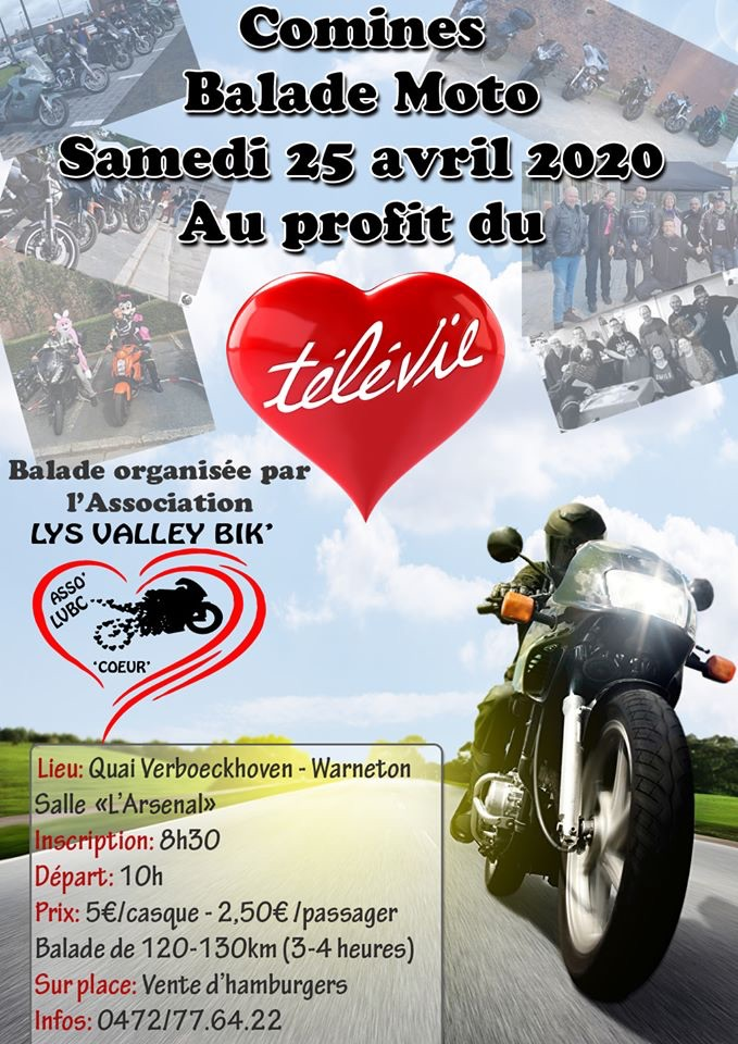 MANIFESTATION - Balade Moto - Samedi 25 Avril 2020 - Warneton  Belgique (7780) 5e580c10
