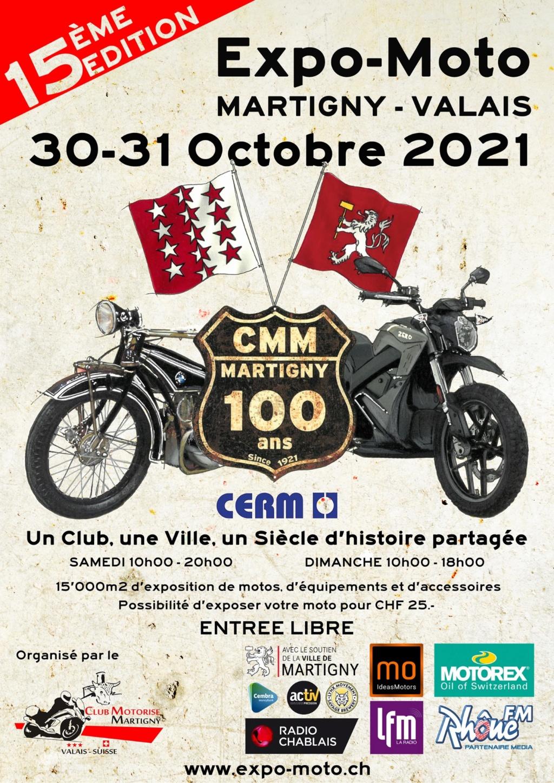 MANIFESTATION - Expo-Moto - 30 & 31 Octobre 2021 - Martigny - Valais - 601aa810