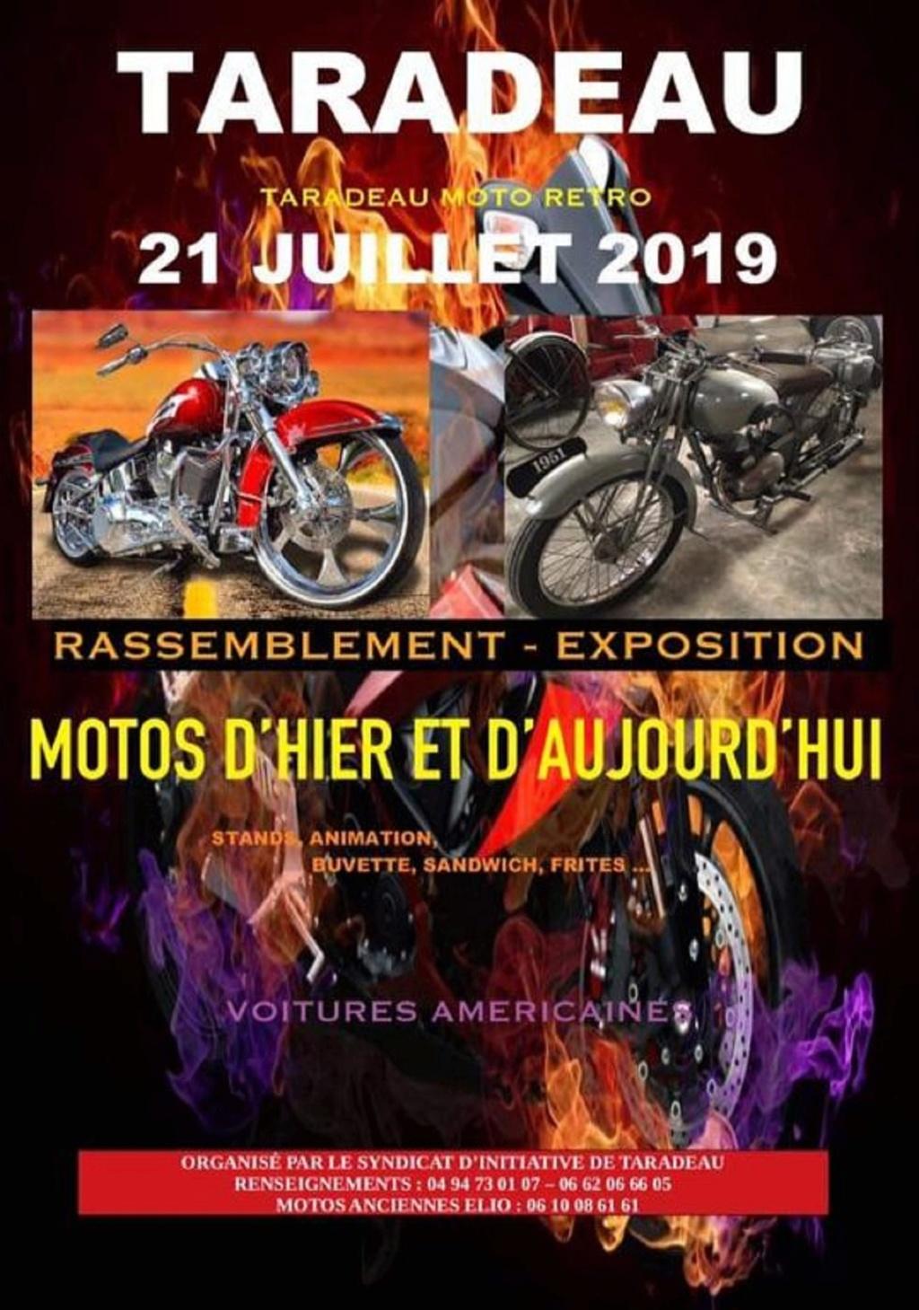 MANIFESTATION - Moto Rétro - 21 Juillet 2019 - Taradeau -  60273810