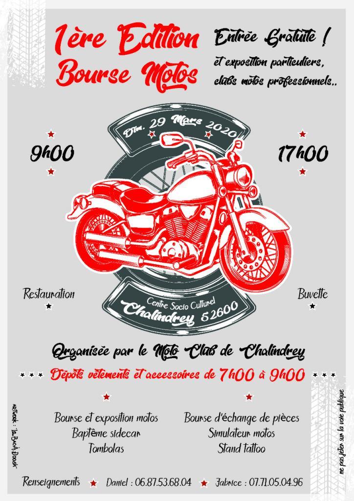 MANIFESTATION - Bourse Motos - Dimanche 29 Mars 2020 - Chalindrey (52600) 64a6f010