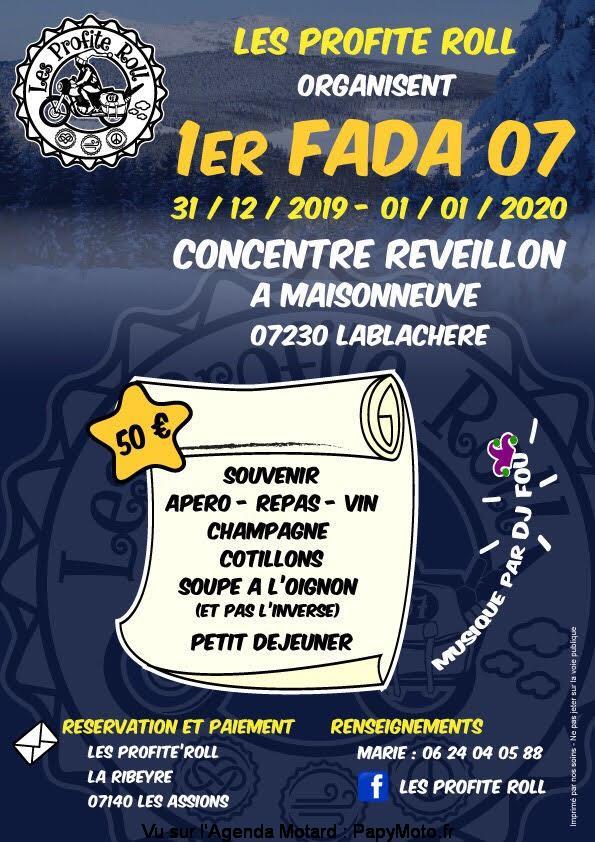 MANIFESTATION - Concentre Réveillon - 31 Décembre 2019 - 1er Janvier 2020 - Lablachere (07230) 72309511