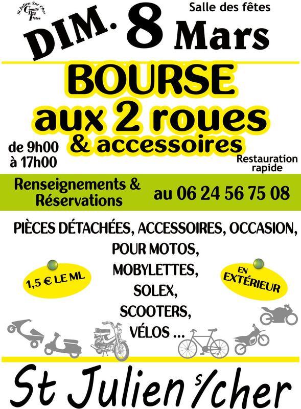 MANIFESTATION - Bourse aux 2 Roues & Accessoires - Dimanche 8 Mars 2020 - St Julien s/ Cher 74788210