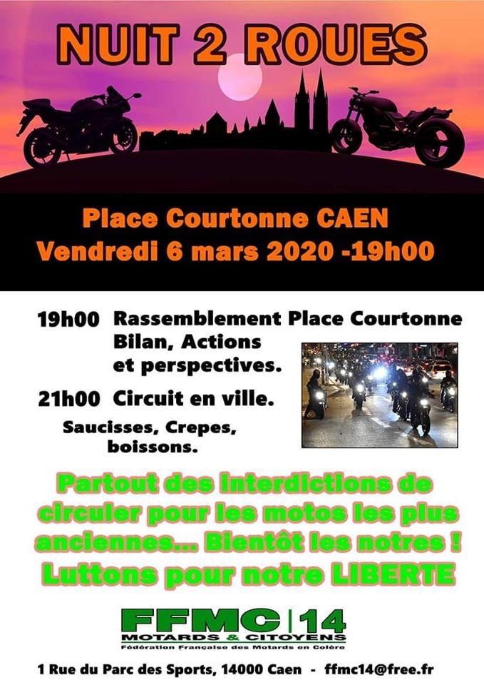 MANIFESTATION - Nuit du 2 Roues - Vendredi 6 Mars 2020 - CAEN  84358511