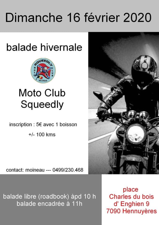 MANIFESTATION - Balade Hivernale - Dimanche 16 Février 2020 - Hennuyères (7090 Belgique ) 84871710