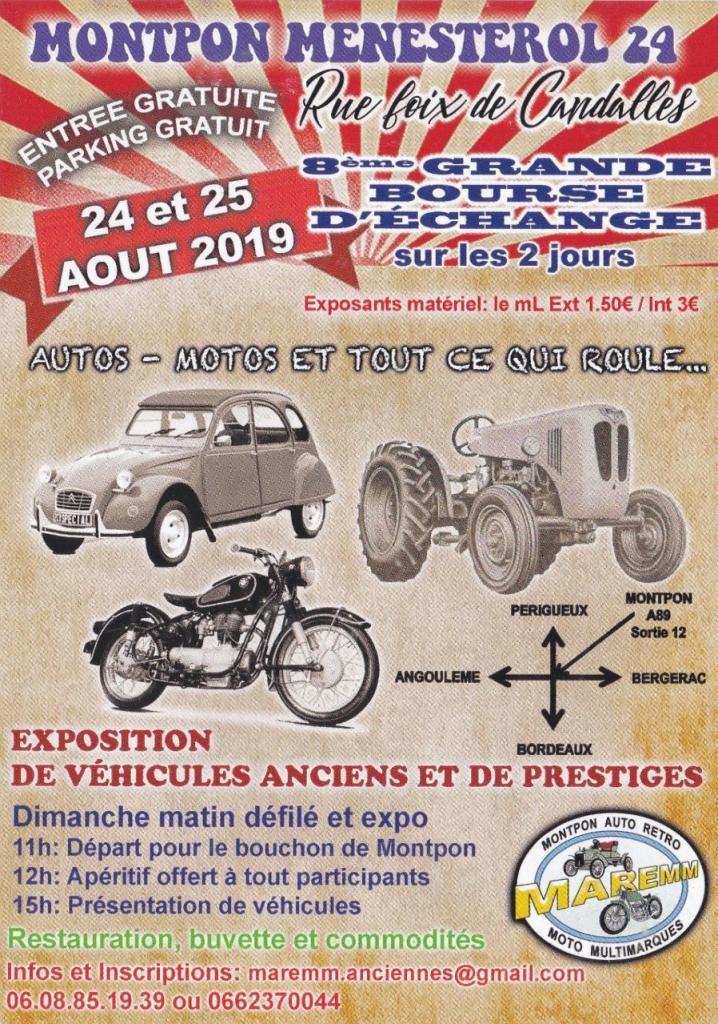 MANIFESTATION - Bourse D'échange - 24 & 25 AOUT  2019 - Montpon Menestrol (24) 84dfe110