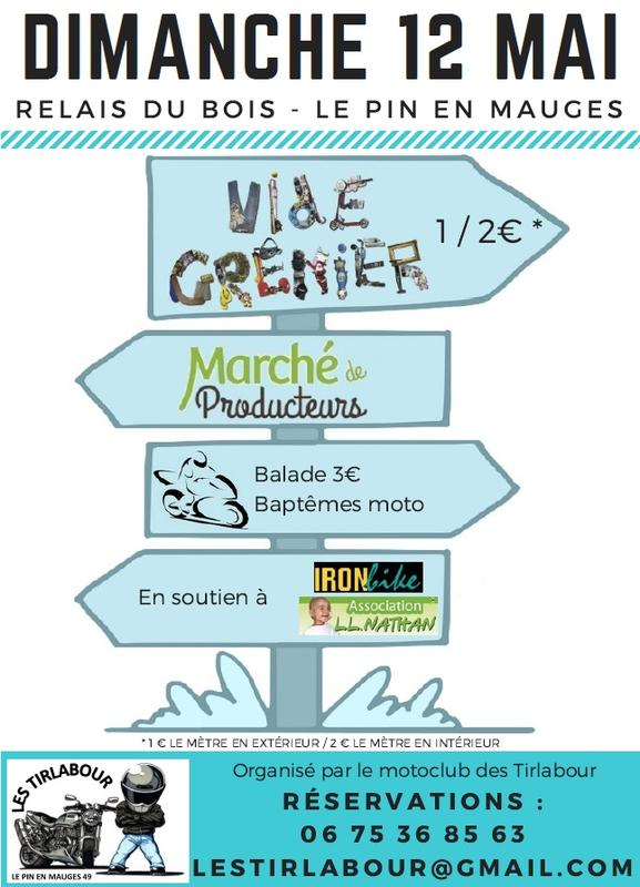 MANIFESTATION - Vide Grenier & Balade - Dimanche 12 Mai 2019 - Le Pin En Mauges (49110) 8ed51710
