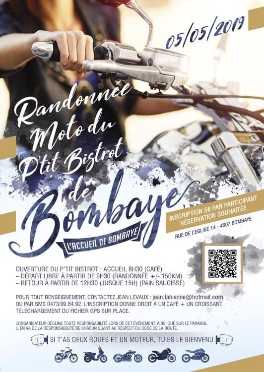 MANIFESTATION - Randonnée Moto - 5 Mai 2019 - Bombaye (4607) Belgique  94896510