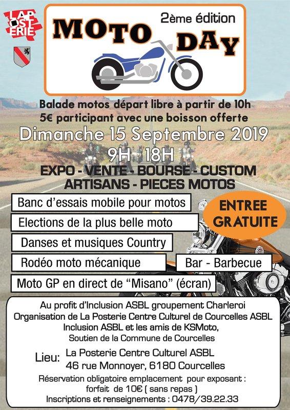 MANIFESTATION - Moto Day - Dimanche 15 Septembre 2019 - Courcelles  ( 6180) 96224210