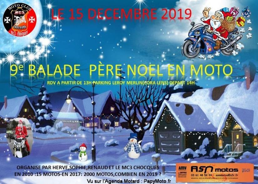 MANIFESTATION - Balade Père Noel en Moto - 15 Décembre 2019 - Lens (62) 9e-bal10