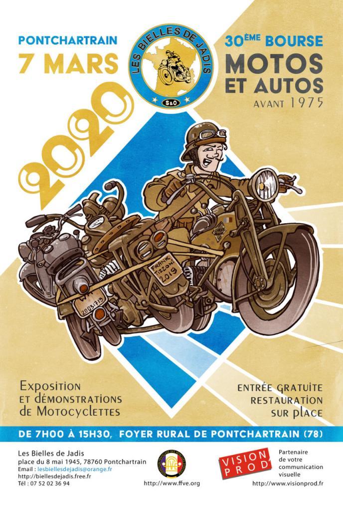MANIFESTATION - 30ème Bourse Motos & Autos - 7 Mars 2020 - Pontchartrain (78) Ad0e9010