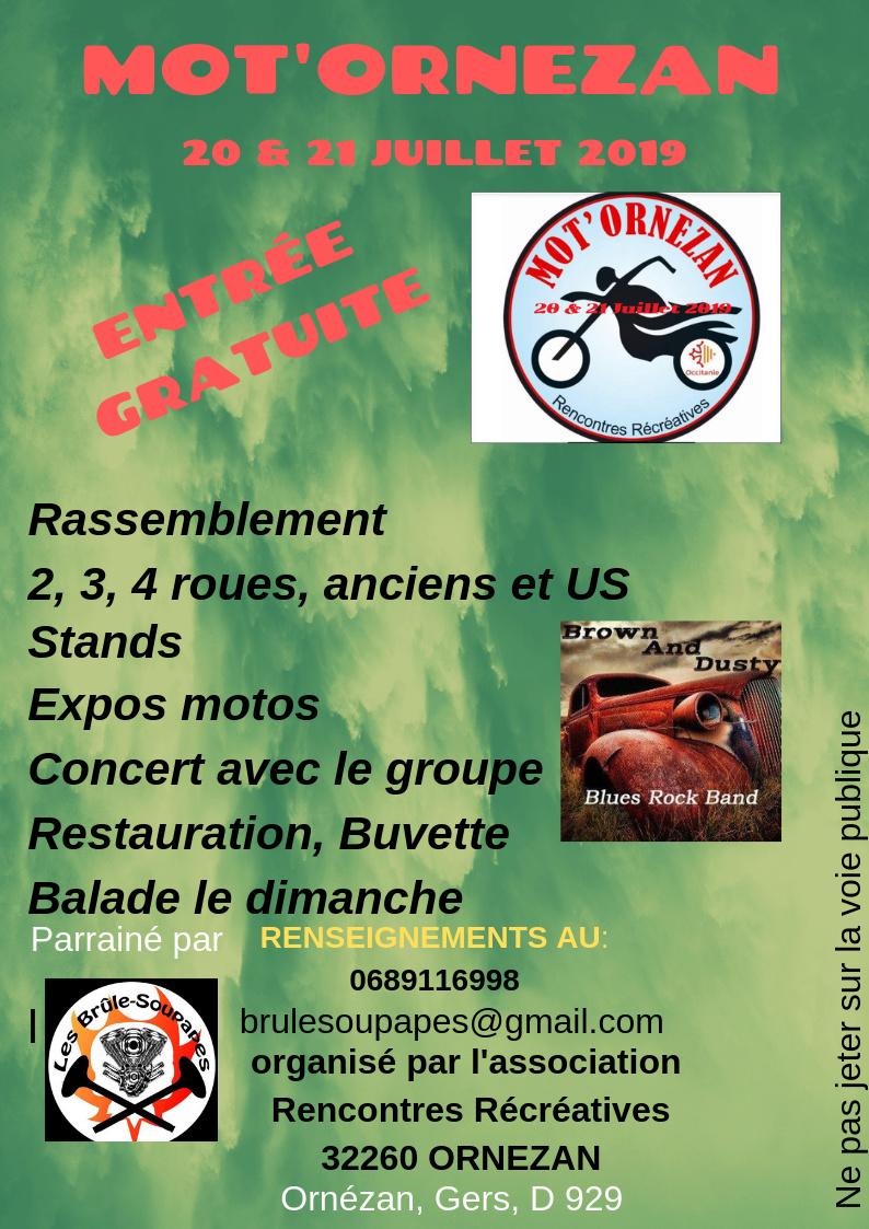 MANIFESTATION - Rassemblement - 20 & 21 Juillet 2019 - Ornezan (32260) Affich42