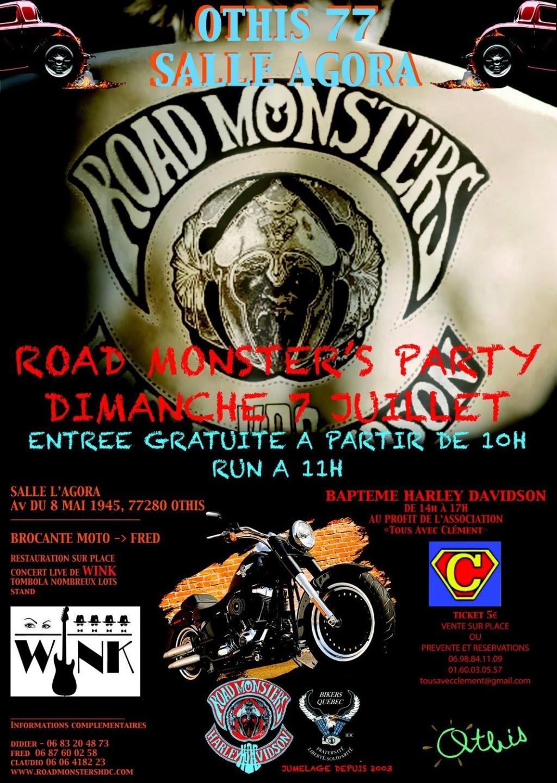 MANIFESTATION - Road Monsters Party - Dimanche 7 Juillet 2019 - OTHIS (77280) Affich44
