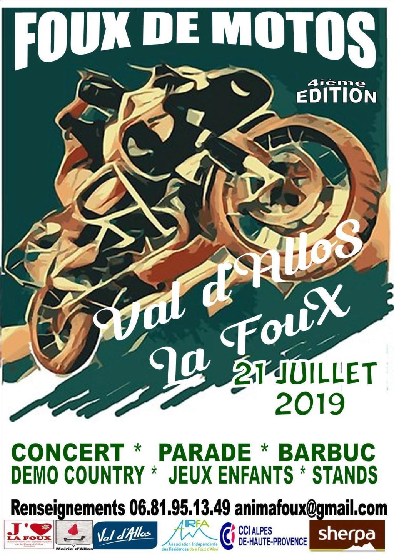 MANIFESTATION - FOUX DE MOTOS - 21 Juillet 2019 - La Foux D'Allos (04) Affich47