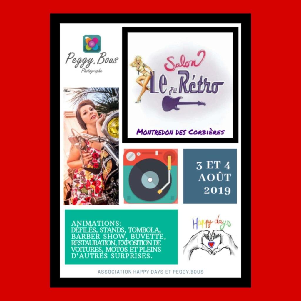 MANIFESTATION - Salon le P'tit Rétro - 3 & 4 AOUT 2019 - Montredon Des Corbières  Affich48