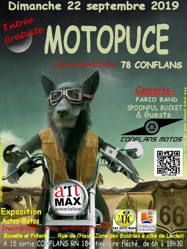 MANIFESTATION - Motopuce - Dimanche 22 Septembre 2019 - Conflans (78) Affich50