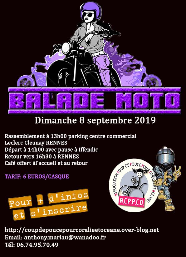 MANIFESTATION - Balade Moto - Dimanche 8 Septembre- 2019 - Rennes ( centre commercial Leclerc ) Affich51