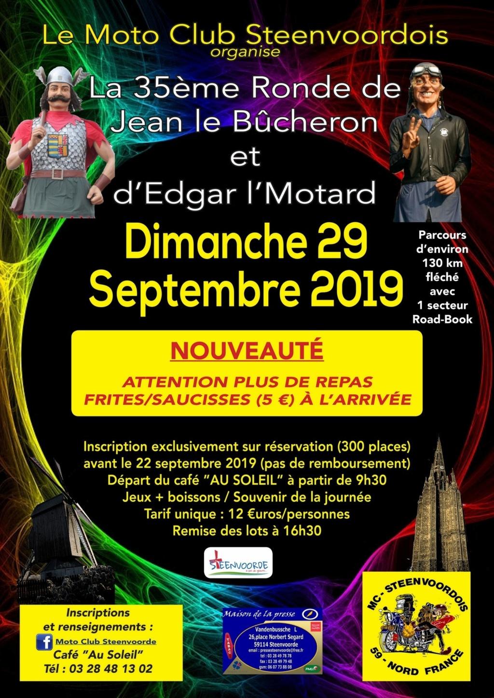 MANIFESTATION - 35ème Ronde de Jean le Bûcheron Dimanche  29 Septembre 2019 - Steenvoorde  (59)     Affich52