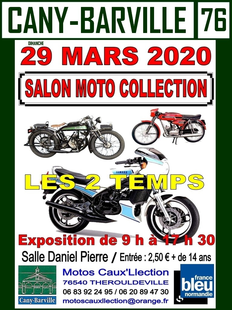 MANIFESTATION - Salon Moto Collection  - 29 Mars 2020 - Cany-Barville (76) Affich60
