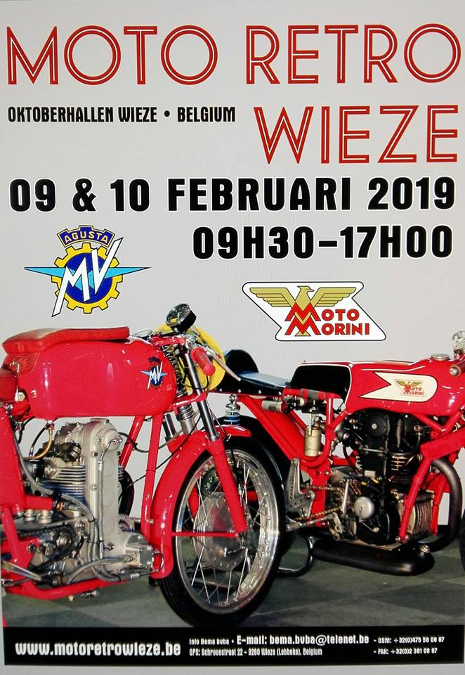 MOTO RETRO - 9 & 10 février 2019 - WIEZE - BELGIQUE  Artfic17