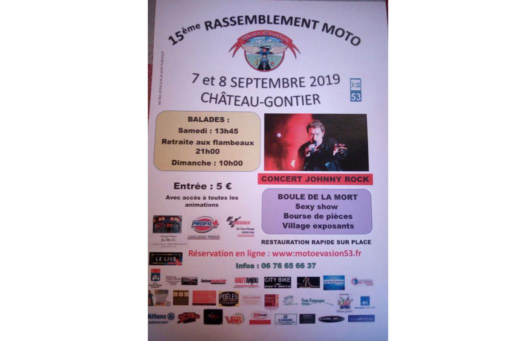 MANIFESTATION - 15ème Rassemblement Moto - 7 & 8 Septembre 2019 - Château - Gontier (53) Arton322