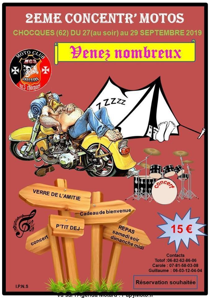 MANIFESTATION - Concentr'Motos - du 27 au 29 Septembre 2019 - Chocques (62) As-cho10