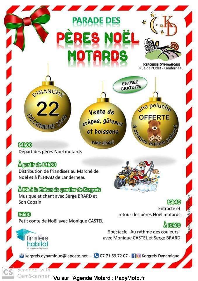 MANIFESTATION - Parade des Pères Noel Motards- 22 Décembre 2019 - Landerneau  As-lan10