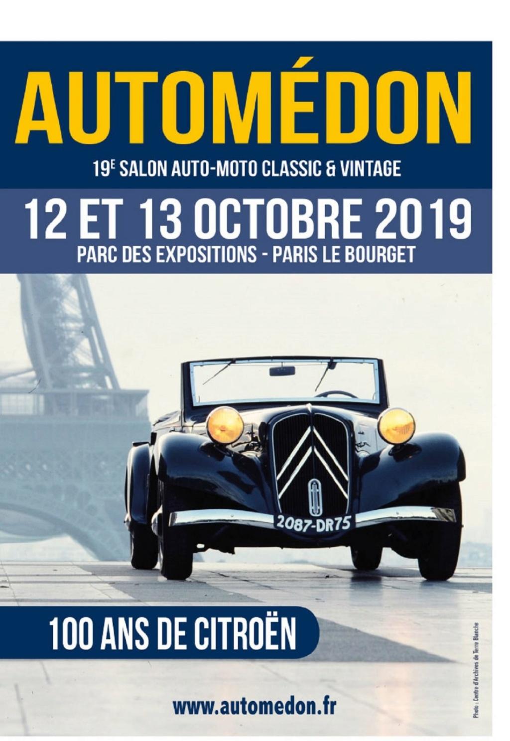 MANIFESTATION - Salon Auto -Moto - 12 & 13 Octobre 2019 - Paris Le Bourget Autome10