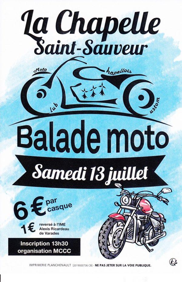 MANIFESTATION - Balade Moto - Samedi 13 Juillet 2019 - La Chapelle Saint- Sauveur  Balad103