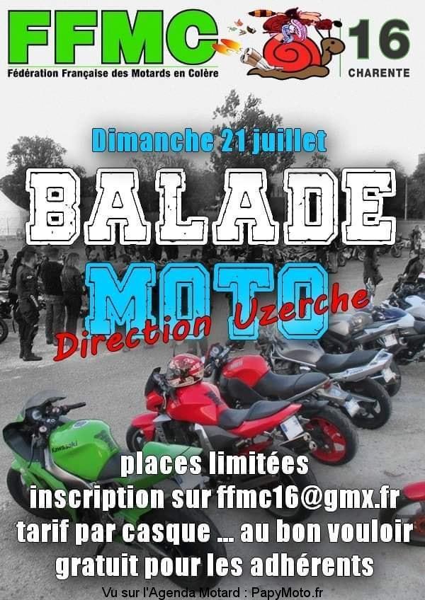 MANIFESTATION - Balade Moto - Dimanche 21 Juillet 2019 - Charente (16) Balad104