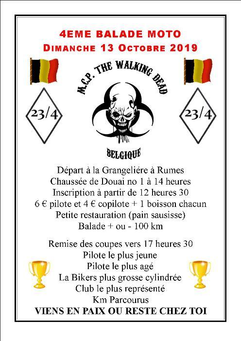 MANIFESTATION - 4ème Balade Moto - Dimanche 13 Octobre 2019 -Rumes- (Belgique ) Balad114