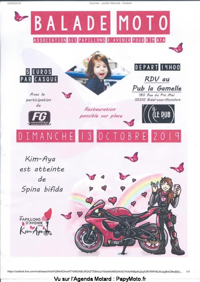 MANIFESTATION - Balade Moto - Dimanche 13 Octobre 2019 -Bréal - Sous - Montfort - (35310) Balad118