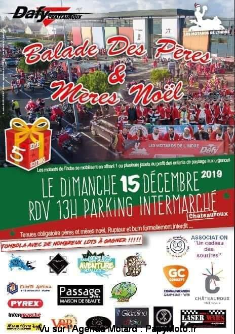 MANIFESTATION - Balade des Pères noel - 15 Décembre 2019 - Chateauroux  Balad125
