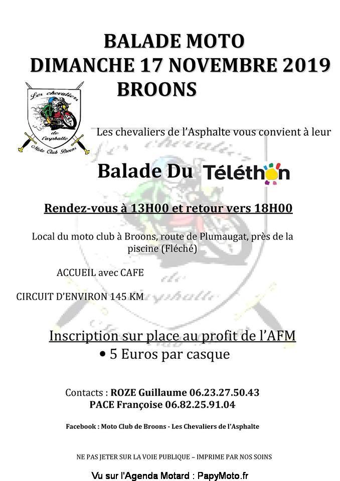 MANIFESTATION - Balade Moto - Dimanche 17 Novembre 2019 - Broons Balad126