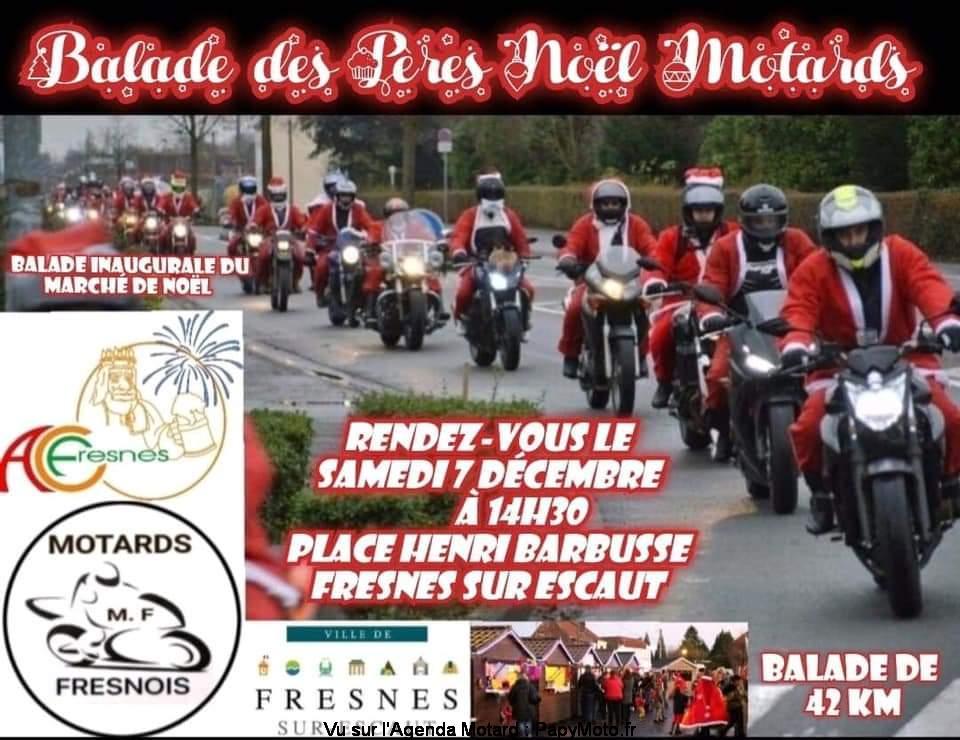 MANIFESTATION - Balade des Pères Noel Motards - Samedi 7 Décembre 2019 - Fresnes sur Escaut Balad130