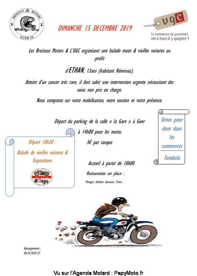 MANIFESTATION - Balade Moto & Vieilles voitures - Dimanche 15 Décembre 2019 - GUER (56) Balad131