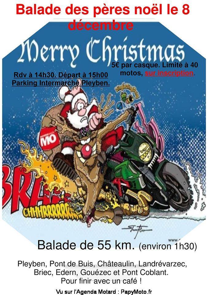 MANIFESTATION - Balade des Pères Noel - 8 Décembre 2019 - Pleyben  Balad132