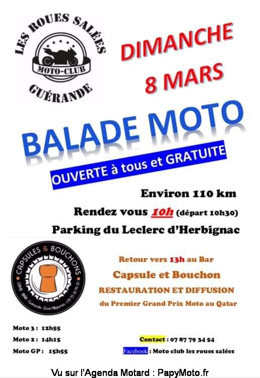 MANIFESTATION - Balade Moto - Dimanche 8 Mars 2020 - Herbignac (44) Balad141