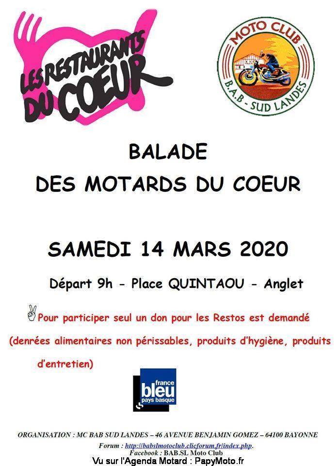 MANIFESTATION - Balade Motards du Coeur - 14 Mars 2020 - Anglet (64) Balad142