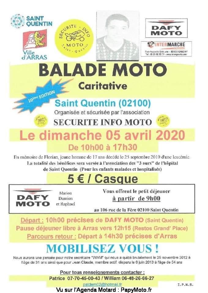 MANIFESTATION  - Balade Moto - Dimanche 5 Avril 2020 - Saint Quentin (02100) Balad143