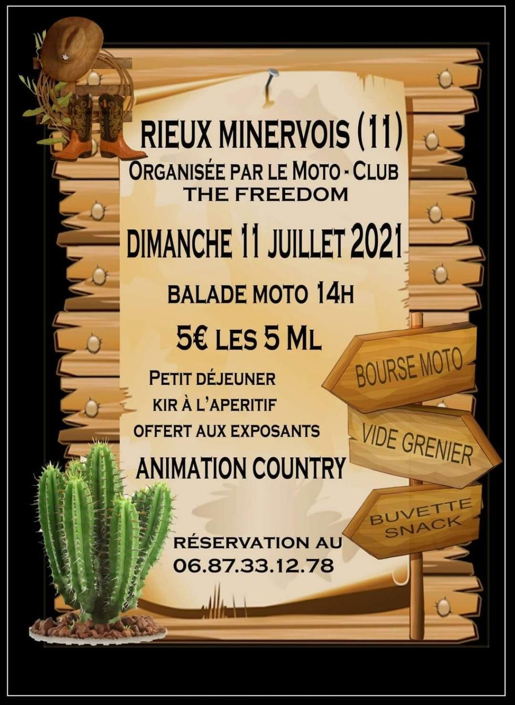 MANIFESTATION - Bourse Moto & Balade Moto . Dimanche 11 Juillet 2021 .Rieux Minervois (11) Balad144