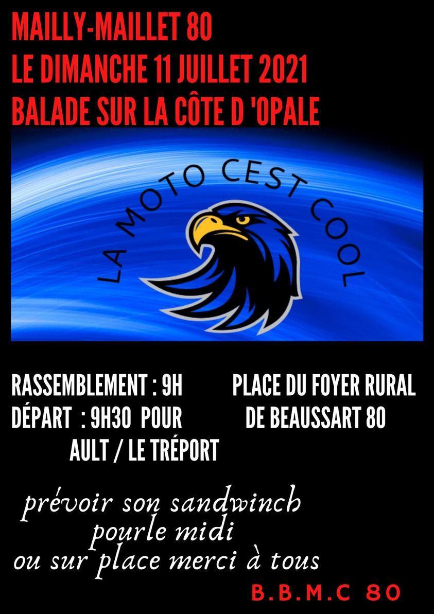 MANIFESTATION - Balade sur la cote D' Opale . Dimanche 11 Juillet 2021 . Mailly-Maillet (80) Balad145