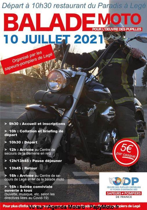 MANIFESTATION - Balade Moto 10 Juillet 2021 . Legé (44) Balad146