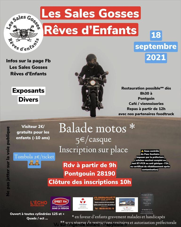 MANIFESTATION - Balade Moto - Samedi 18 Septembre 2021 - Pontgouin (28190) Balad150
