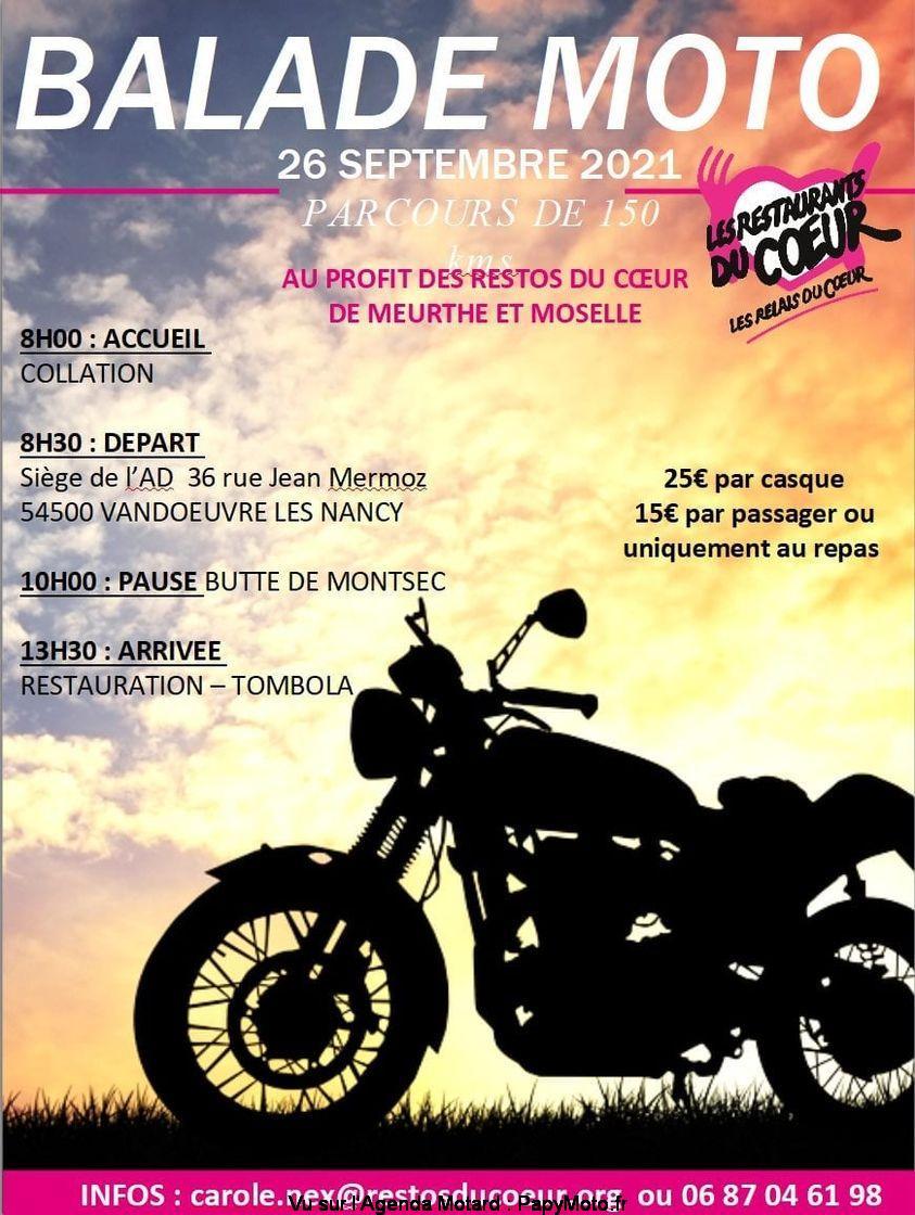 MANIFESTATION - Balade Moto - 26 Septembre 2021 Vandoeuvre Les Nancy (54500) Balad151