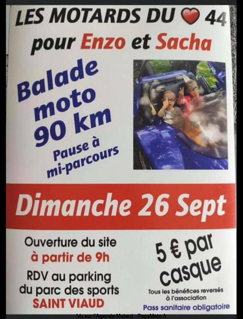 MANIFESTATION - Balade Moto - Dimanche 26 Septembre 2021 - Saint Viaud (44) Balad152