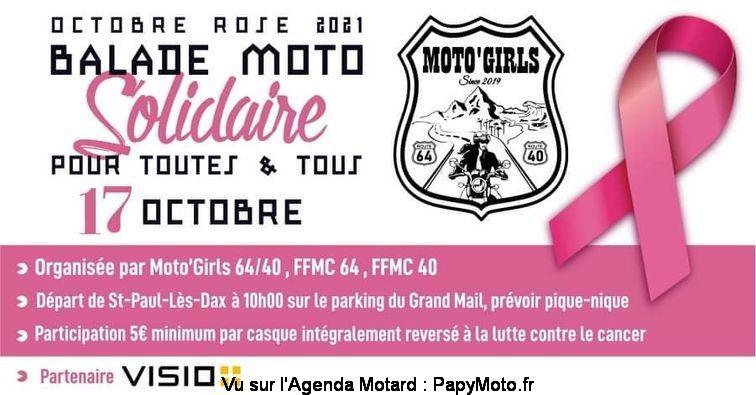 MANIFESTATION - Balade Moto Solidaire - 17 Octobre 2021 - St Paul- Lès - Dax  Balad155