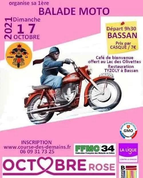 MANIFESTATION - Balade Moto - Dimanche  17 Octobre 2021 - Bassan (34) Balad156